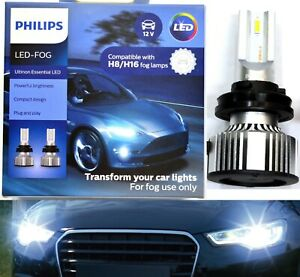 Philips Ultinon LED 40W 6500K White H8 Two Bulbs Fog Light Replace Upgrade Lamp
