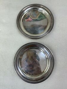 """VINTAGE CHRISTOFLE COLL. GALLIA SILVER PLATED ROUND SERVING PLATE DISH 5 7/8"""""""