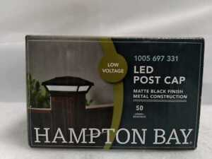 Low Voltage Black Integrated LED 4x4 and 6x6 Deck Post Light by Hampton Bay