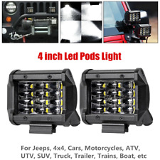 72W Quad Row LED Pods Led Work Light Bar Flood Driving Fog For Offroad Truck SUV