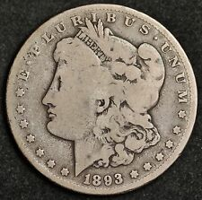 1893-cc Morgan Silver Dollar.  V.G.  112017