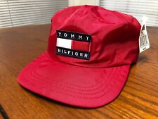 Tommy Hilfiger Red Strapback Hat Nylon With Tags