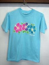 f24bbaeb5 vtg Hawaii T-Shirt Retro Puffy Print Hibiscus Oneita cotton sz M made in USA