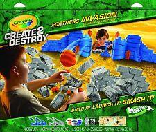 Crayola Create Destroy Fortress Destruction Toy Ages 4+ Colour Paint Fight Gun