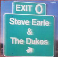 STEVE EARLE & THE DUKES EXIT O LP US Import MCA 5998 1987 Excellent
