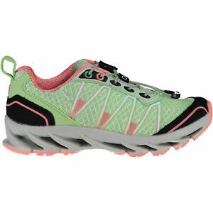CMP Girl Running Sports Shoes Kids Altak Trail Shoe 2.0 Light Green Mesh