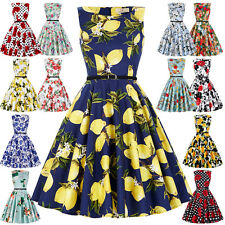 Grace Karin Ladies 50s Floral Print Pinup Swing Retro Party Cocktail TEA Dress