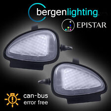 FOR VOLKSWAGEN PASSAT CC SANTANA EOS 18 LED UNDER MIRROR PUDDLE LIGHT LAMP PAIR