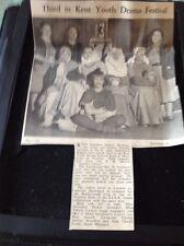 72-9 Ephemera 1951 Picture King Ethelbert School Birchington St John Drama Grp