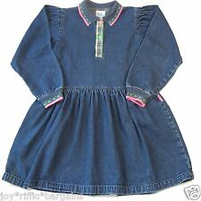 Girls Oshkosh Blue Denim Long Sleeve Dress Size 6X
