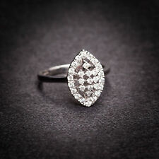 Classy 0.38 Cts Natural Diamonds Engagement Ring In Fine Hallmark 14K White Gold