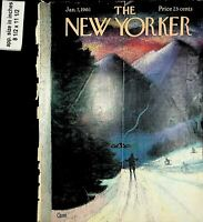 1961 The New Yorker Magazine Cover 1961 January 7 Vintage Print 8029