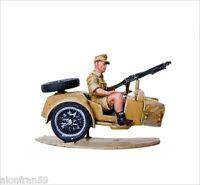 SMI037 LEAD SOLDIERS MOTORCYCLE sidecar Zündapp KS 750 Fallchirmjagers