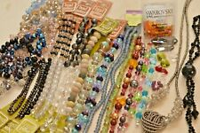 Large lot 35 strand/bags various Crystal Beads - Swarovski, Bead Gallery- A2112c