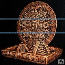 Aztec Sun Stone Pyramid Mexico Mexican Maya Mayan Sculpture Statue Calendar Art
