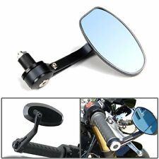 BLACK MOTORCYCLE 7/8 HANDLE BAR END MIRRORS FOR HONDA SUZUKI YAMAHA CAFE RACER