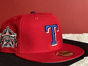 NEW ERA TEXAS RANGERS 1995 ALL STAR GAME FITTED HAT SIZE 7 3/8