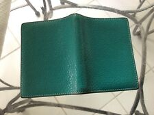 HERMES Agenda/Diary/Day Planner Cover Med Green/Blue Auth made in France