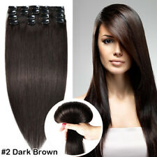 CLEARANCE Clip In 100% Real Remy Human Hair Extensions Full Head Highlight AAAAA