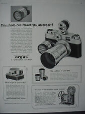 1959 Argus C-44 and Coupled Light Meter Camera Vintage Print Ad 12416