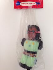 """Regal Toy Doll Souvenir of Canada New in Bag Vintage Indian 12"""" tall green"""