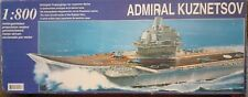 Plastic boat kit motorised Admiral Kuznetsov aircraft carrier battery op not rc.