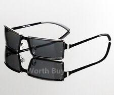 New Men Women Rectangular Frame Clear Lens Glasses Designer Fashion Wrap Around