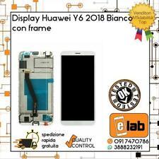LCD DISPLAY TOUCH SCREEN PER HUAWEI Y6 2018 FRAME BIANCO ATU-L11 ATUL21 VETRO