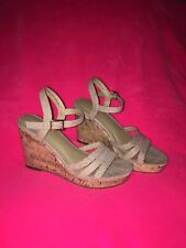 Time And Tru Strap Wedge Sandal Cork Nude 7