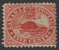 Canada Stamps - Scott # 15 - 1859 - Unused No Gum - Sound                (Q-335)