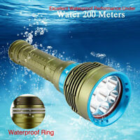 Underwater 20000Lm CREE XM-L2 LED Scuba Diving Flashlight 3x 18650/26650 Torch