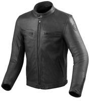 Giacca pelle moto vintage cafe racer Rev'it Revit Gibson black leather jacket