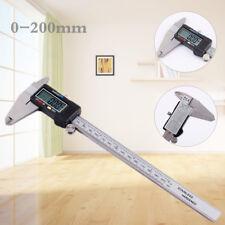 0-200mm LCD Digitaler Messschieber Digitale Schieblehre Messwerkzeug mit Kasten