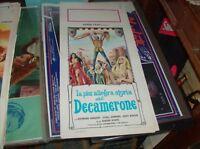 LA PIU' ALLEGRA STORIA DEL DECAMERONE locandina originale 1972 SYBIL DANNING