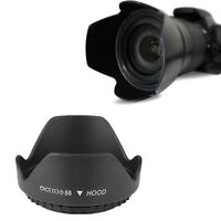 58mm Hard Tulip Shaped Lens Hood For canon 18-55, 70-300, 75-300, 55-250 W5T2