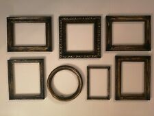 Vintage  style aged gold  picture frames X 7  job lot
