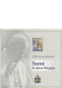 2020,  100. Geburtstag Papst Johannes Paul II,  Verkaufspackung 438  A,A1, B**
