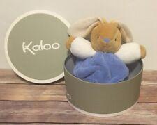 "Kaloo 8"" Blue Indigo Plush Bunny Rabbit Lovey Plume Baby Security NWT"