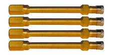 4 X Brass Truck Tyre Valve Extension - Effective Length 100mm - Double Collar