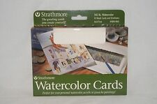 "Strathmore 105 150 Watercolor Acid Free 10 Pack Cards 5""x 6 7/8"" + Envelops New"