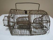 Antique Wire Primitive Mouse Rat Rodent Live Cage Trap Catch Form Handle