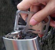 Mini 11 IN 1 HUNTING CAMPING HIKING SURVIVAL POCKET CARD MULTI TOOLS USE efoca