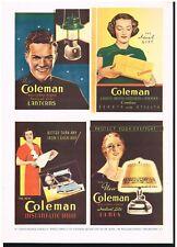 COLEMAN AD LAMPS IRON LANTERNS ADVERT Original 1930s Vintage Print Ad*Retro