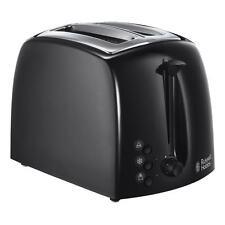 Russell Hobbs RU-21641 texturas de alta calidad de plástico negro Ancho 2 Slice Toaster