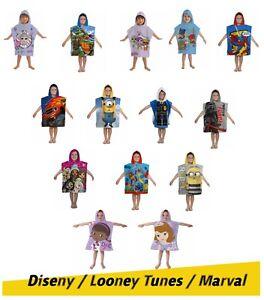 Boy Girls Kids Bath Beach Swimming Towel Poncho Diseny Marval Looney Tune Cotton