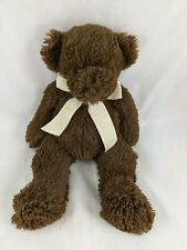 "Circo Brown Bear Plush 13"" Target Yellow Bow Stuffed Animal Toy"