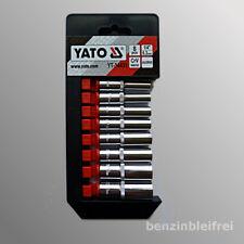 """Innen-Sechskant lange Stecknuss Nüsse Steckschlüssel 5,5-13mm 8-tlg. YATO 1/4"""""""