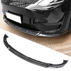 Glossy Carbon Fiber Style Front Bumper Lip Body Kit Spoiler For Tesla model y