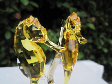 SWAROVSKI CRYSTAL TOPAZ SEA HORSES 1033926 or 5103233 MINT NIB RARE RETIRED