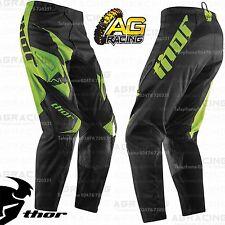 "Thor 2015 fase inclinación Verde Negro Carrera Pantalones 38 pulgadas 38 ""Motocross Enduro Atv Nuevos"